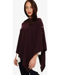 Phase Eight - Odette Cashmere Blend Asymmetric Poncho - Lyst