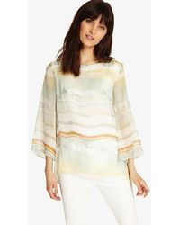 a6ea4cc654a04a Phase Eight - Eliza Stripe Silk Blouse - Lyst