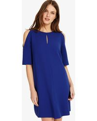 236600fff8c Warehouse One Shoulder Asymmetric Dress in Blue - Lyst