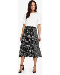 Phase Eight - Sallie Mixed Spot Skirt - Lyst