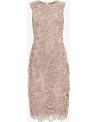 Phase Eight - Teresa 3d Metallic Lace Dress - Lyst