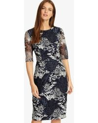 Phase Eight - Fern Embroidered Dress - Lyst