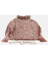 Phase Eight Georgina Sequin Drawstring Bag