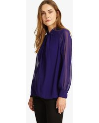 John Lewis - Phase Eight Twist Front Blouse - Lyst