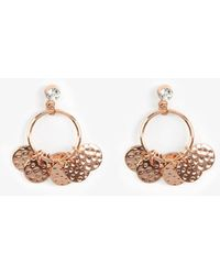 Phase Eight - Florence Charm Hoop Earrings - Lyst