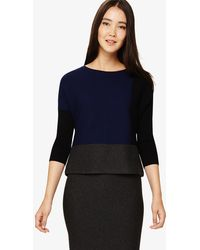 107125daed85a Phase Eight - Robin Colour Block Knitted Top - Lyst