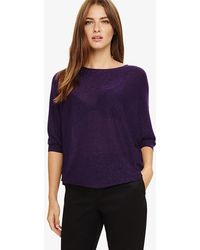 Phase Eight - Becca Shimmer Batwing Jumper - Lyst