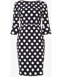 Phase Eight - Katlyn 3/4 Sleeve Spot Dress - Lyst