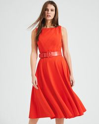 Phase Eight - Shona Belted Fit & Flare Dress - Lyst