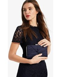 Phase Eight - Kendall Satin Knot Front Clutch Bag - Lyst