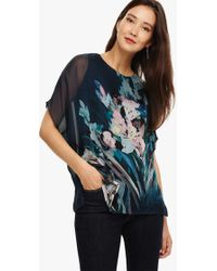 696ab9fad95 Phase Eight - Everly Floral Silk Blouse - Lyst