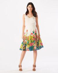 Phase Eight - Adeline Print Cotton Skirt - Lyst