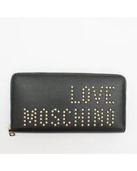 Moschino - Stud Wallet Black - Lyst