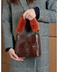 Pixie Market - Croc Fur Handle Bag - Lyst