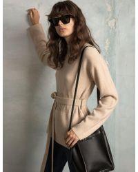 Pixie Market - Belted Mock Neck Sweater - Lyst