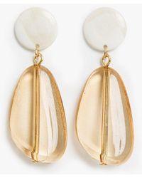 Pixie Market - Amber Drop Chandelier Earrings - Lyst