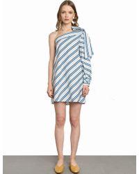 Pixie Market - Audrey Bow Tie One Sleeve Dress - Lyst