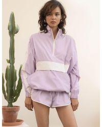 Pixie Market - Lavender Nylon Track Suit - Lyst