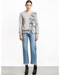 Pixie Market - Diagonal Bow Tie Sweatshirt - Lyst