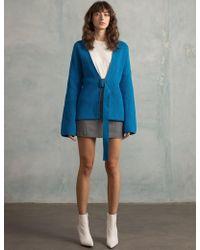 Pixie Market - Blue Belted Cardigan - Lyst