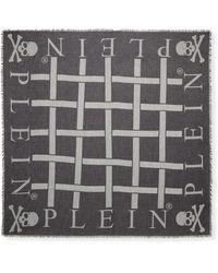 "Philipp Plein - Square Scarf ""skull All In"" - Lyst"