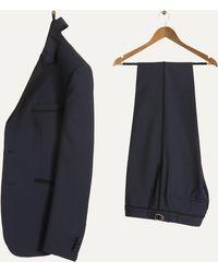 Paul Smith - 'kensington' Dinner Suit With Braiding Trim Navy - Lyst