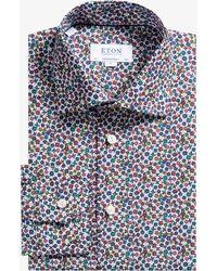 Eton of Sweden - Contemporary Fit Flower Shirt Multi - Lyst