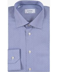 Eton of Sweden - Contemporary Fit Stripe With Square Detail Blue - Lyst