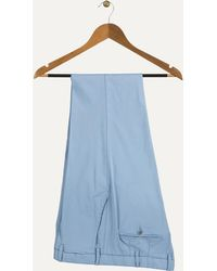 Canali - Slim Fit Luxury Chinos Pale Blue - Lyst