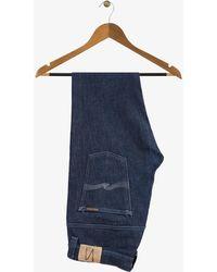 Nudie Jeans - Thin Finn Jeans Dry Dark Grey Stitching - Lyst