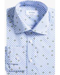 Eton of Sweden - Contemporary Fit 'avacado' Polka Dot Shirt Blue - Lyst