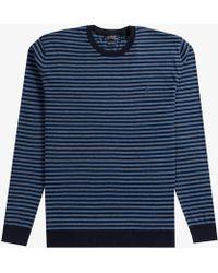 Ralph Lauren - Lightweight Crew Neck Knit Blue/navy - Lyst