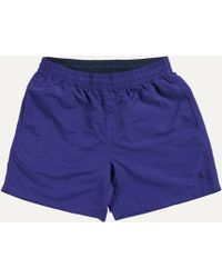Ralph Lauren - Classic Logo Swim Short Purple With Black Pony - Lyst