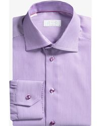 Eton of Sweden - Contemporary Fit Striped Shirt Purple - Lyst