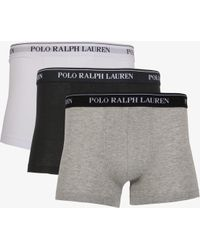 Ralph Lauren - Classic 3 Pack Boxer Shorts White/grey/black - Lyst