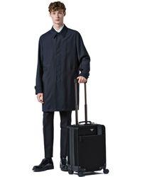 691b6fda46c6 Prada Saffiano Leather Trolley in Black for Men - Lyst