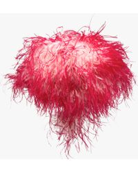Prada | Hat With Marabou Feathers | Lyst