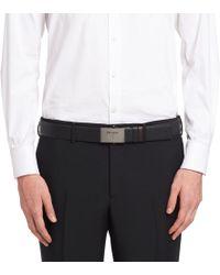 Prada - Saffiano Cuir Leather Belt - Lyst
