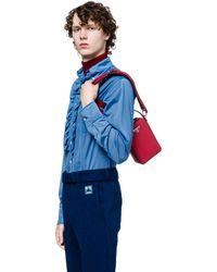 6034ddb5650d Lyst - Prada Saffiano Leather Men s Bag in Blue for Men