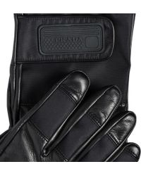 Prada - Nylon And Leather Gloves - Lyst