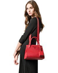 71dc5ff48066 Prada Monochrome Medium Leather Bag in White - Lyst