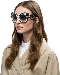 Prada - Minimal Baroque Eyewear - Lyst
