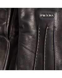 Prada - Leather Gloves - Lyst