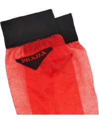 Prada - Light Nylon Socks - Lyst