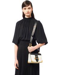 eb8fc6442fec Prada - Cahier Leather Shoulder Bag - Lyst