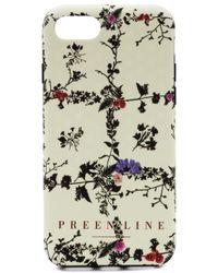Preen By Thornton Bregazzi - Iphone Case Floral Vine Print Ivory - Lyst