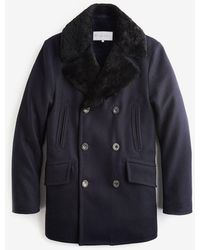 Private White V.c. - The Shearling Peacoat - Lyst
