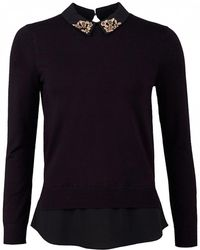 Ted Baker - Moliiee Embellished Collar Knit - Lyst