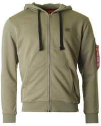 Alpha Industries - X Fit Zip Through Hooded Sweat - Lyst