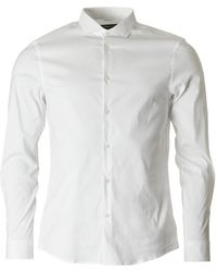 Michael Kors | Cotton Nylon Stretch Slim Fit Shirt | Lyst
